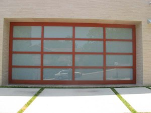 Powdercoated Glass Garage Door