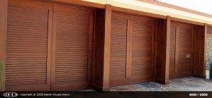 Louver Wood Garage Door 2005