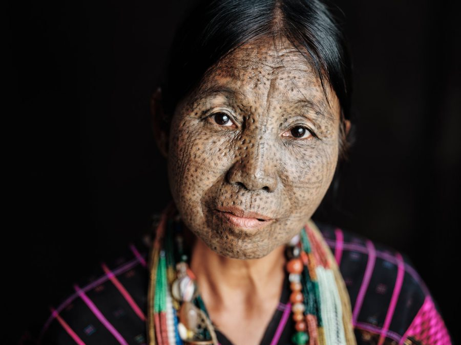 Ng'hang Woman with Facial Tattoo