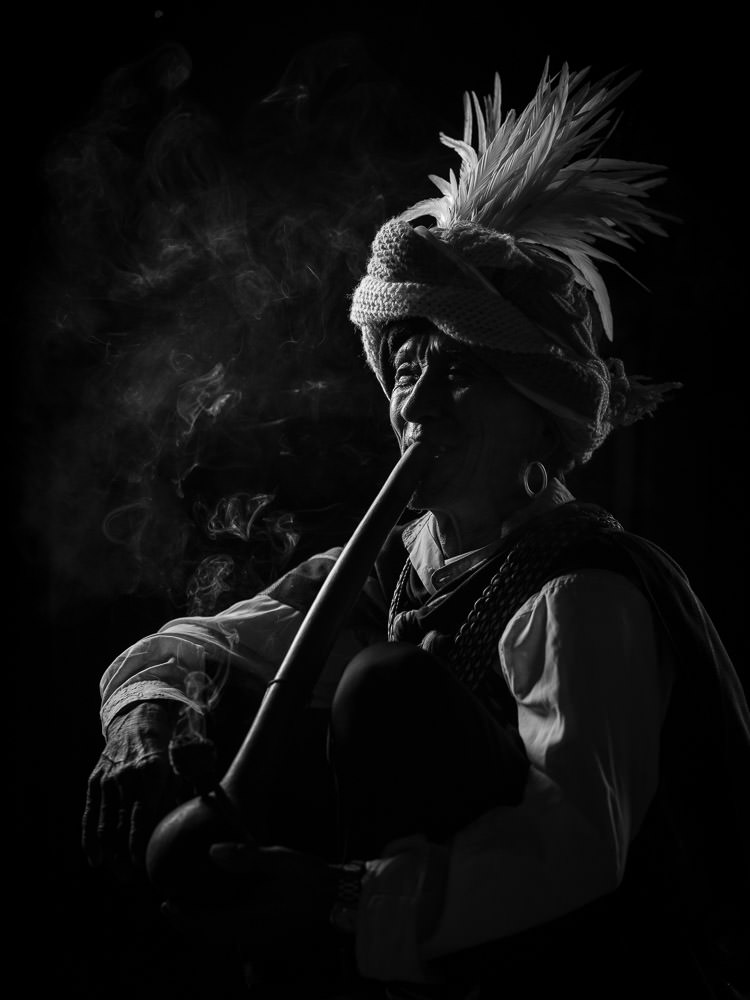 Chin State Pipe Smoking Man