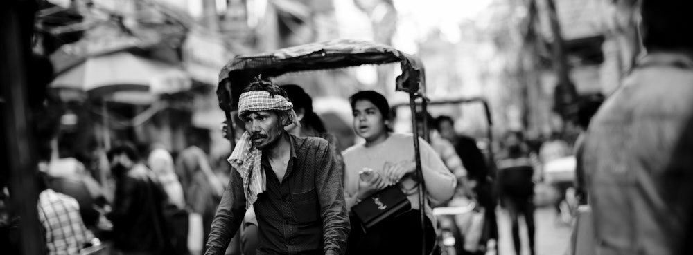 Rickshaw Rider, Chandni Chowk, Old Delhi