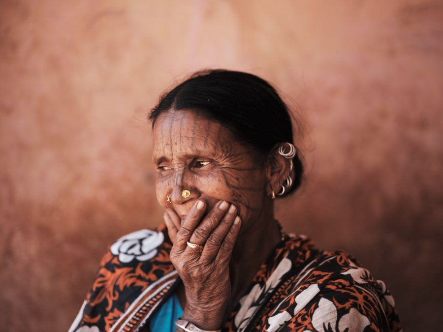 Kui (Kutia Kondh) Woman with Facial Tattoo, Odisha, India
