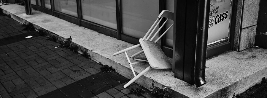 Broken chair, Seoul, South Korea