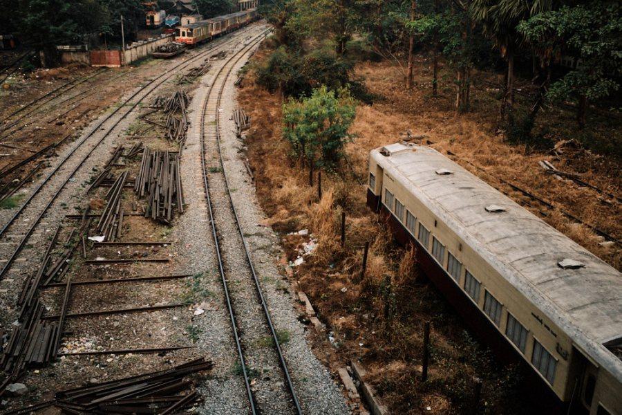 Rail Yard from Pansodan Flyover