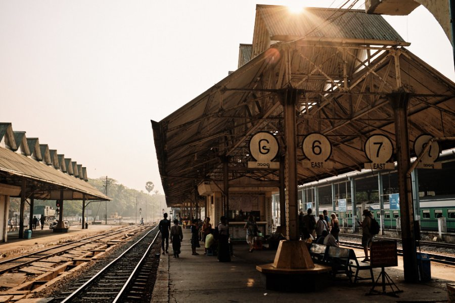 Circular Line Platform Yangon Station