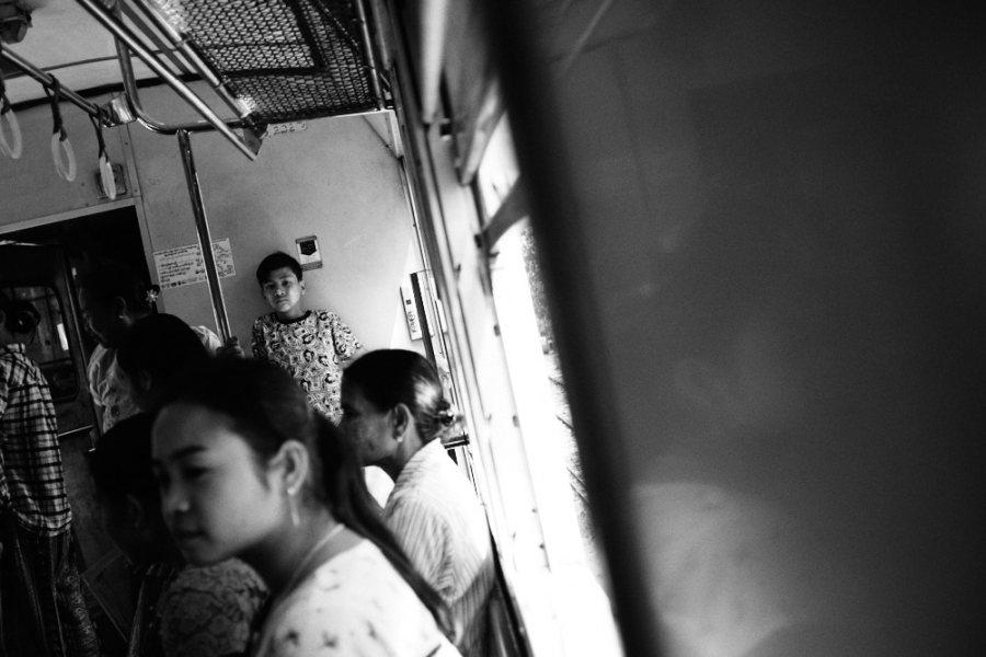 Yangon Circular Train Child Merchant Resting