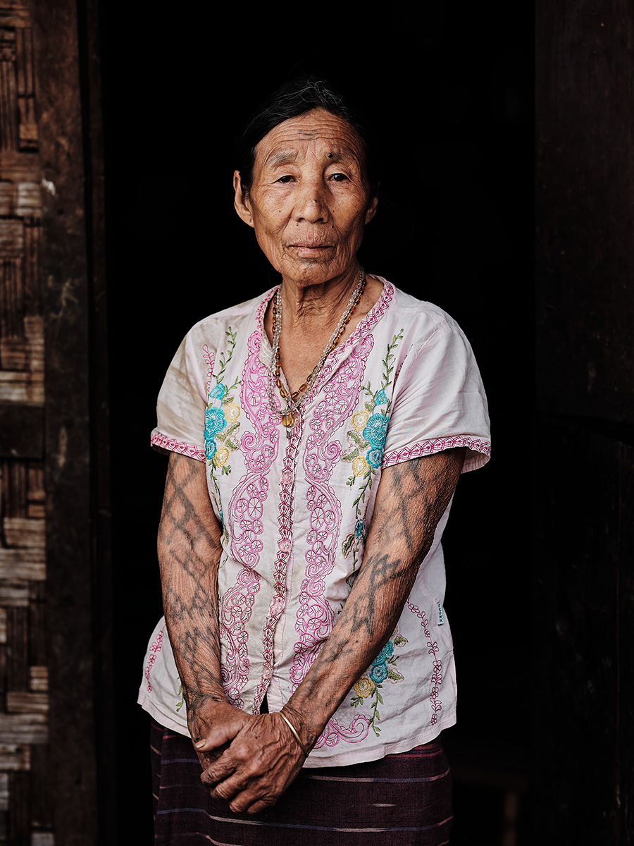 Makuri Naga Woman with Arm Tattoos, Myanmar