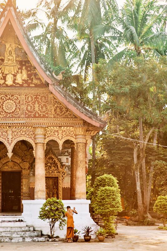 Luang Prabang Novice Sweeping