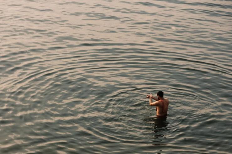 Ganges Prayer - Varanasi, India