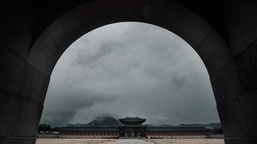 Lighting over Gyeongbokgung