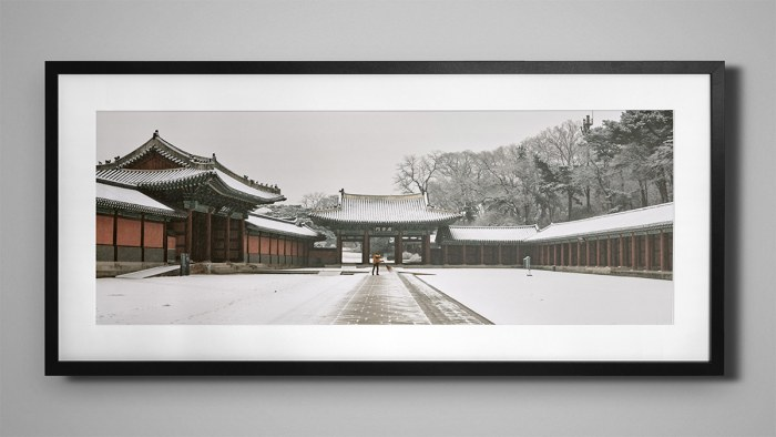 Snowy Panorama of Changdeokgung - Mock