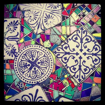Colored Stilted Doodle
