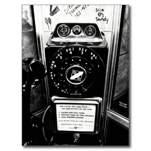 Vintage Telephone Booth Postcard