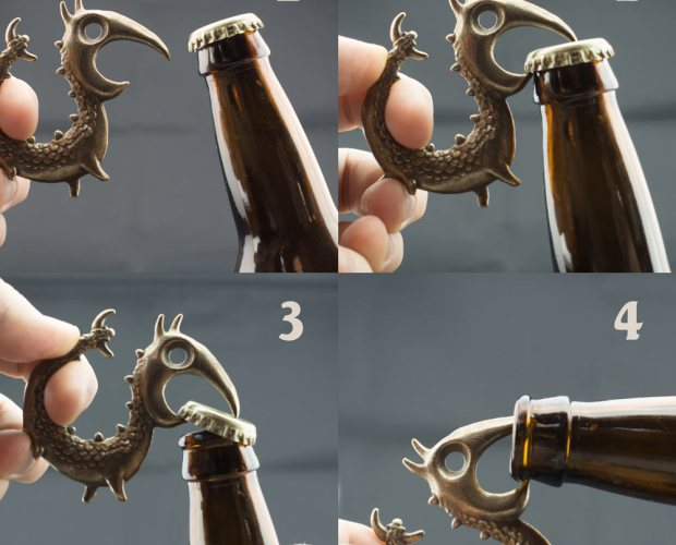Dragon Bottle Opener by Dylan Sisson