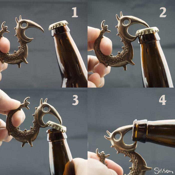 Dragon Bottle Opener by Dylan Sisson