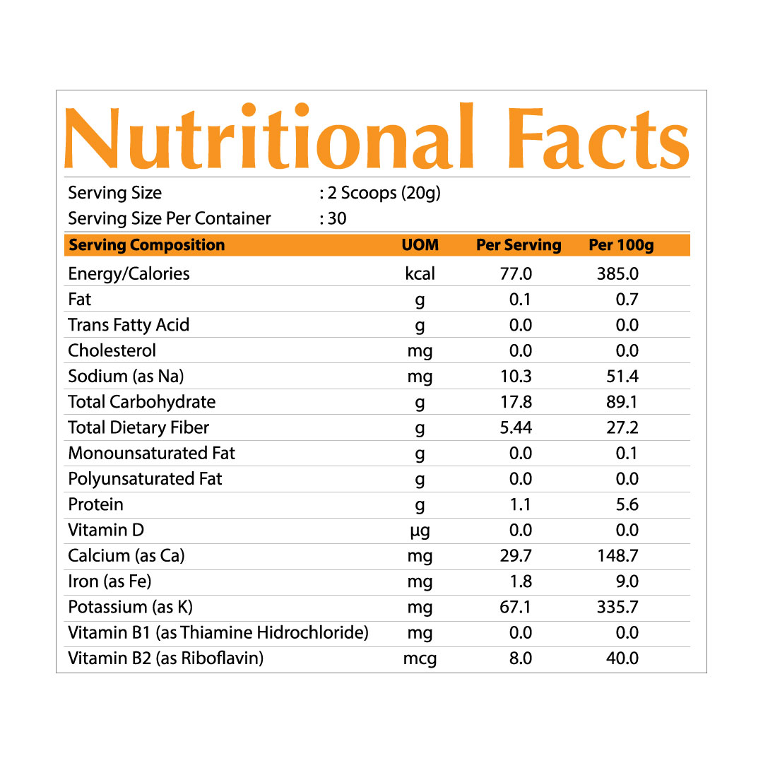 SuperBioOrganic NutritionFact