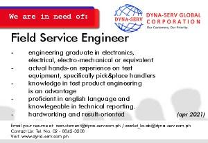 We are hiring Field Service Engineer