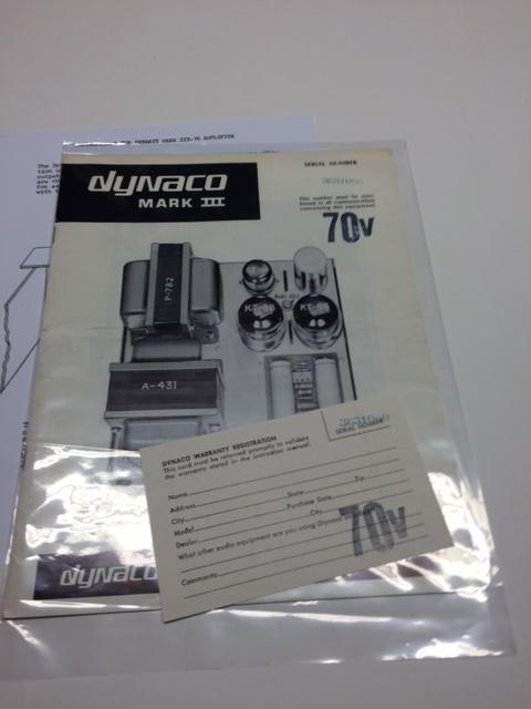 MK III 70V manual