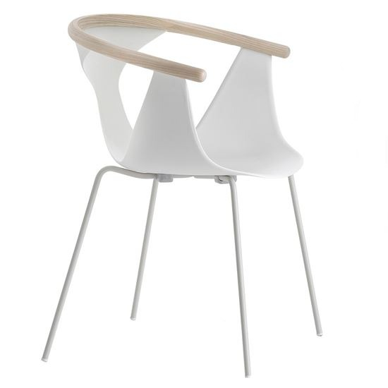 fox metal armchair, pedrali, armchairs, restaurant furniture, workplace furniture