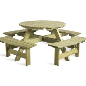 round 8 picnic table, picnic bench, picnic table, outdoor furniture, contract furniture