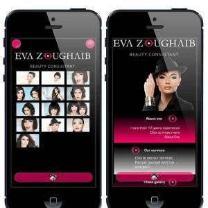 Eva Zoughaib makeup artist mobile app