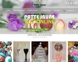Patte Jaune chocolates & Gifts website