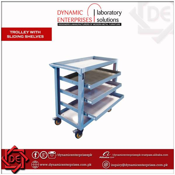 Trolley with Sliding Shelves