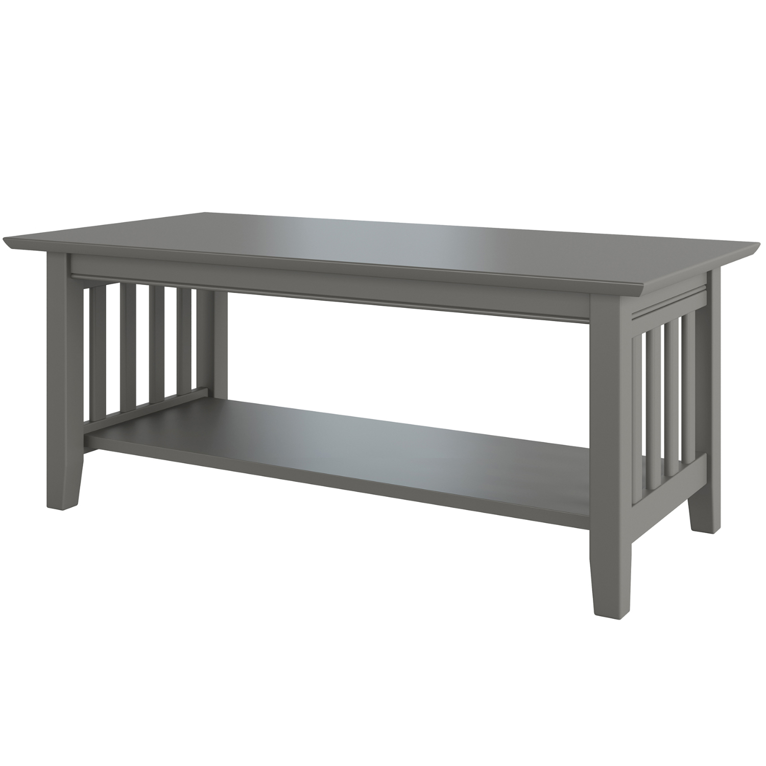 Mission Coffee Table In Grey Wood By Atlantic Furniture