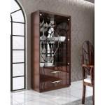 Esf Imports Carmen2doorcurio Carmen 2 Door Curio Cabinet In High Gloss Walnut Glass