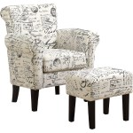Monrach I 8175 Accent Chair Ottoman Set In Vintage French Fabric