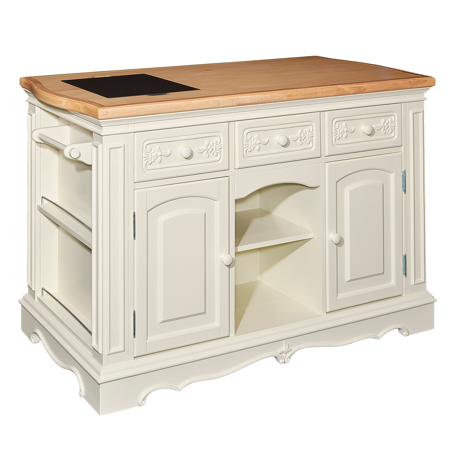 Powell D1030D16WI Pennfield White Kitchen Island