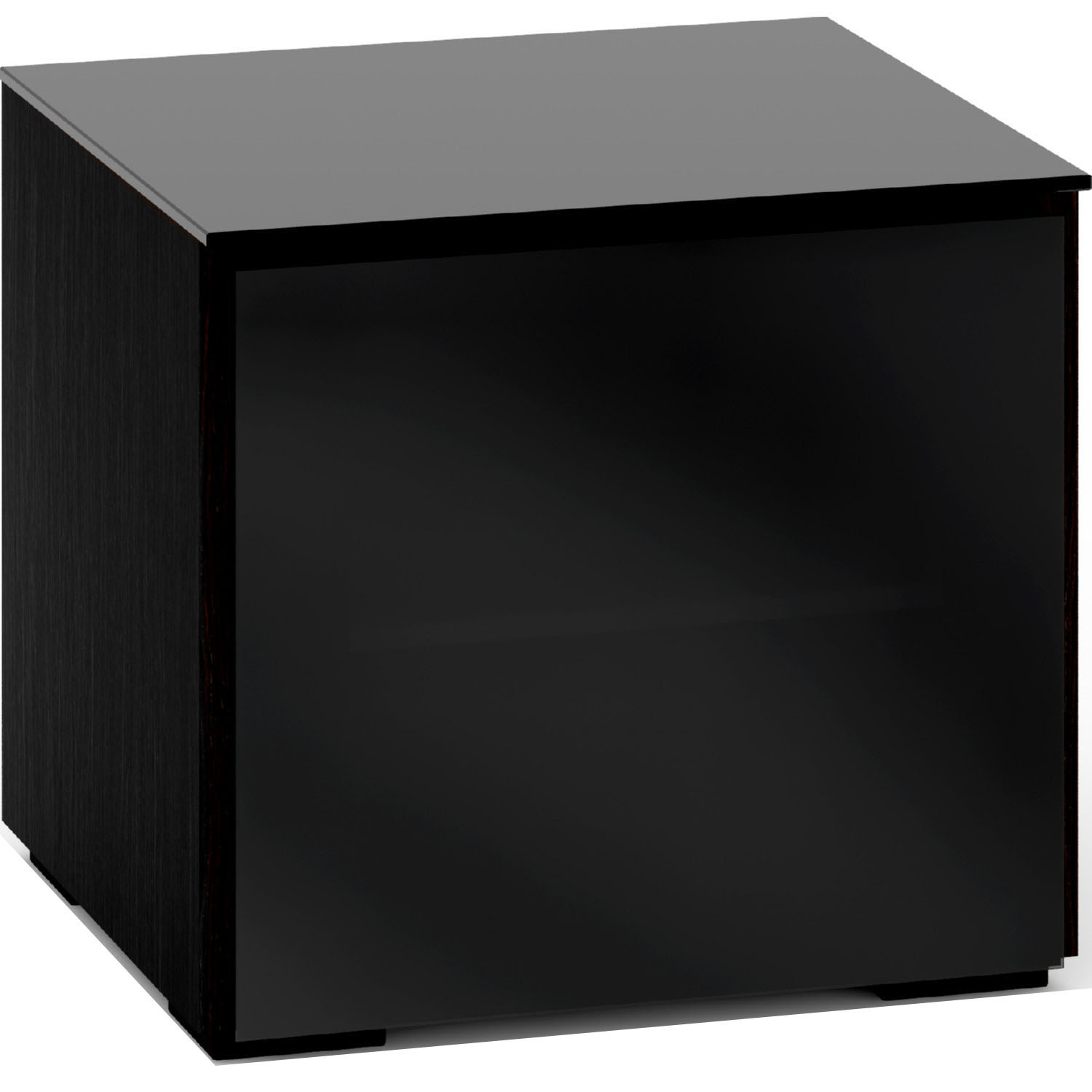Oslo 217 Av Cabinet In Black Oak W Smoked Black Glass Doors Top By Salamander Designs