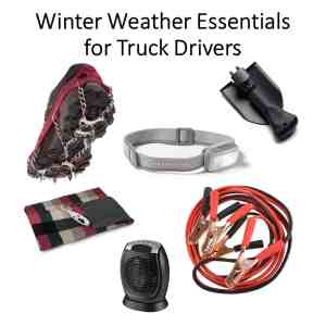 winter weather essentials for truck drivers