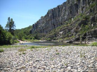 vue sur la rivière Ardèche