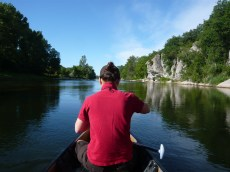 Anaïs sur le canoë