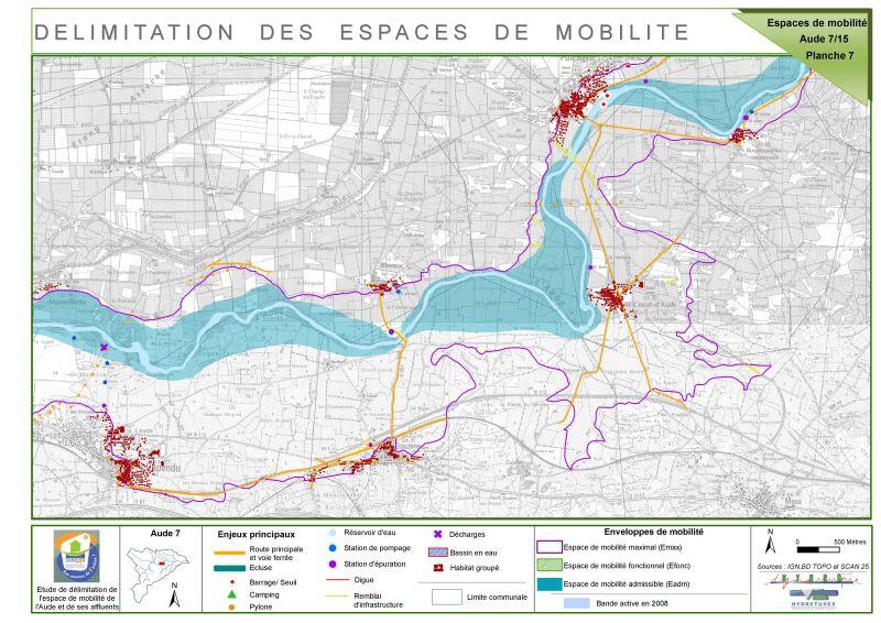Cartographie de délimitation des espaces de mobilité