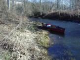 Le canoë au bord de la rivière Bourbre