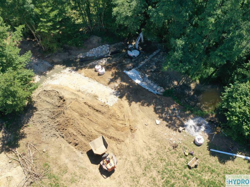 Continuité écologique : vue générale du site chantier depuis notre drone MAVICPRO2