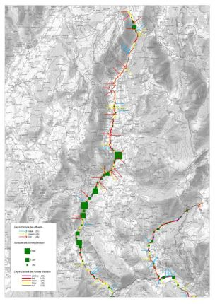 GIFFRE - Géomorphologie - Cartographie des érosions présentes sur le bassin versant