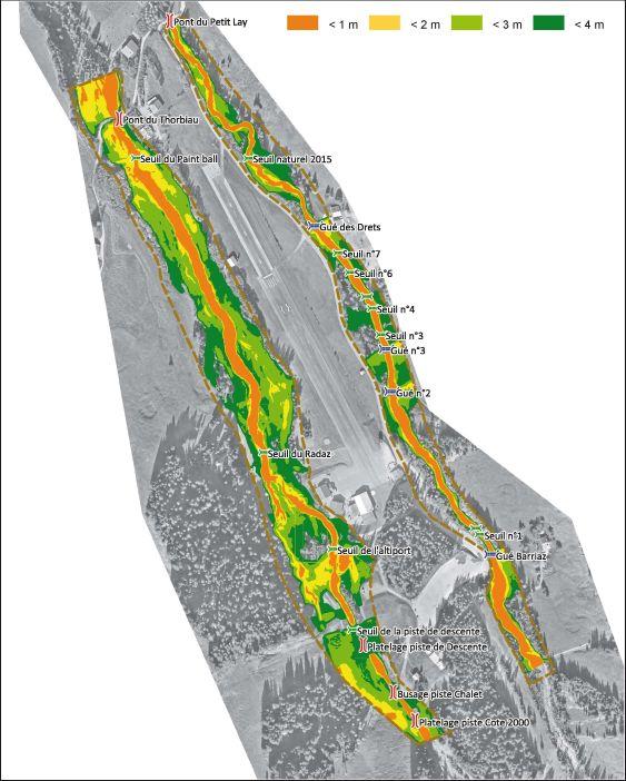 GLAPET - Plan de gestion : carte des hauteurs sur fond