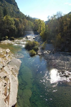 Vue sur le fleuve Hérault