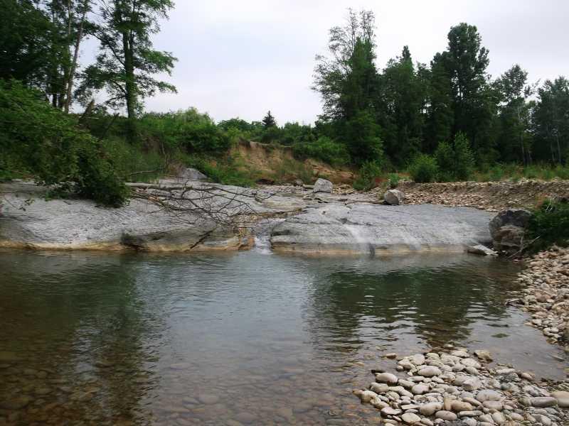 HERBASSE - Suivi post-crue : vue de la rivière Herbasse dans la Drôme