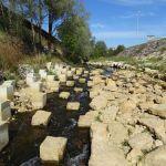 LANGE - Réhabilitation écologique : vue sur la rampe à macrorugosités