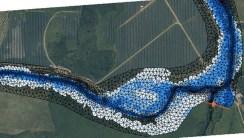 Illustration de la modélisation hydraulique du site d'étude