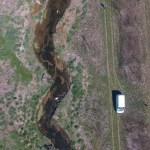 Suivi post-travaux : vue du Lange depuis le drone