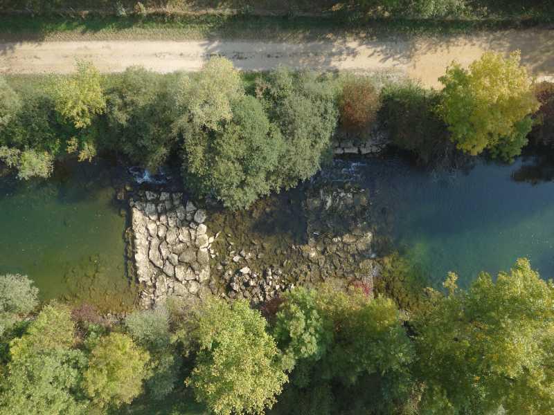 Vue en drone du seuil de Culatte sur le Suran