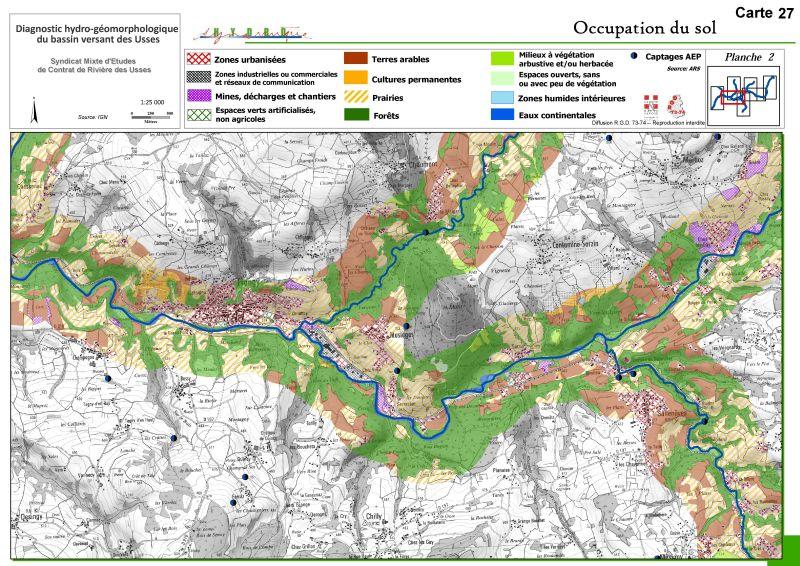 Fiches actions : Carte d'occupation du sol du bassin versant des Usses