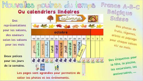 poutre du temps Montessori calendrier linéaire 2019-2020