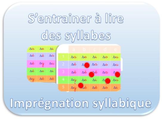 s'entrainer à lire des syllabes en imprégnation syllabique