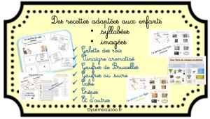 Des recettes syllabées et imagées pour les enfants dys